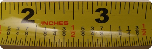 How many centimeters are in an inch